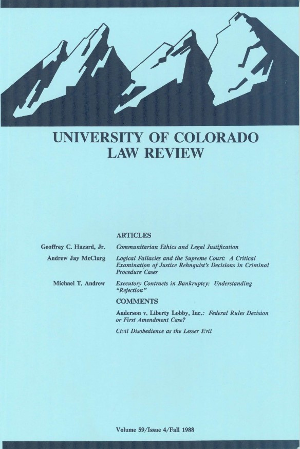 University of Colorado Law Review