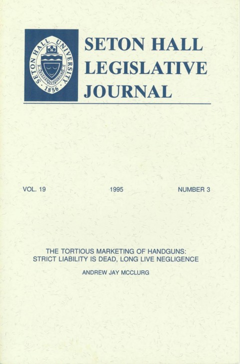 Seton Hall Legislative Journal