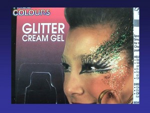 glitter makeup warning