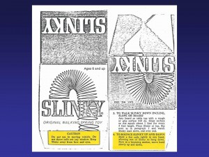 Slinky warnings and instructions