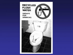 toilet water warning