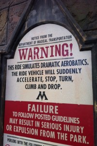 Harry Potter warning