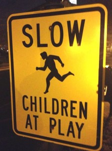 wacky warning giant children at play