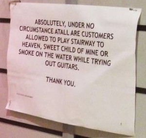 guitar playing warning