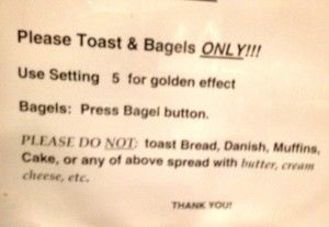 Toaster Warning