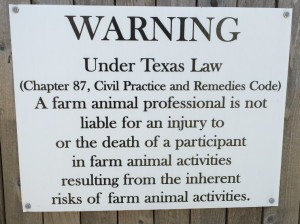 Protection for Texas Farm Animal Professionals