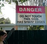 New Zealand Warning Sign