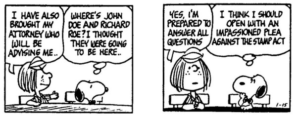 Snoopy Defends Peppermint Patty