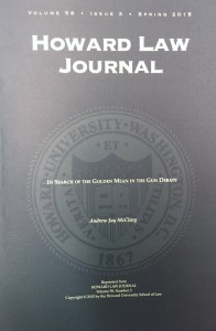 Cover of Howard Law Journal