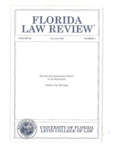 Florida Law Review Right to be Negligent